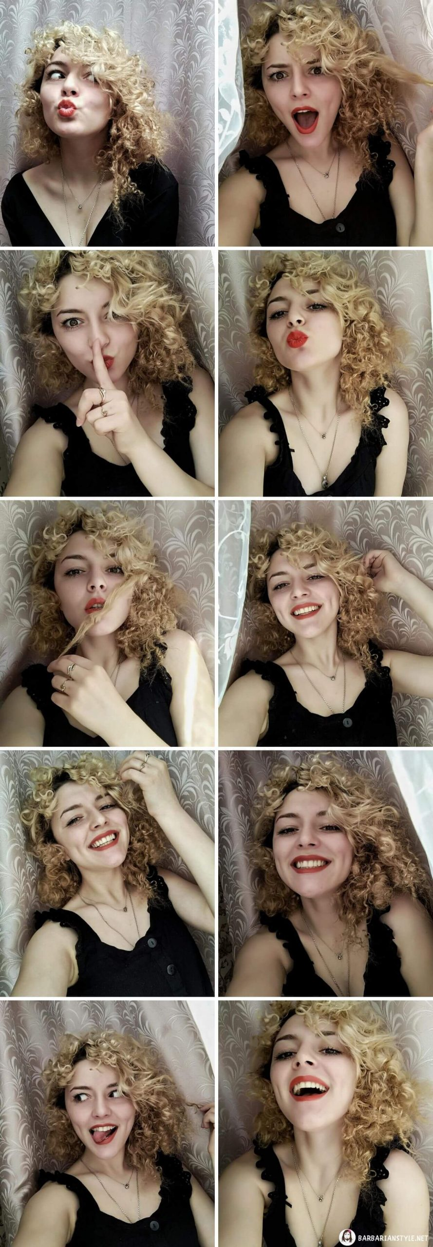 Medium-Length Hairstyle for Girls with Curls