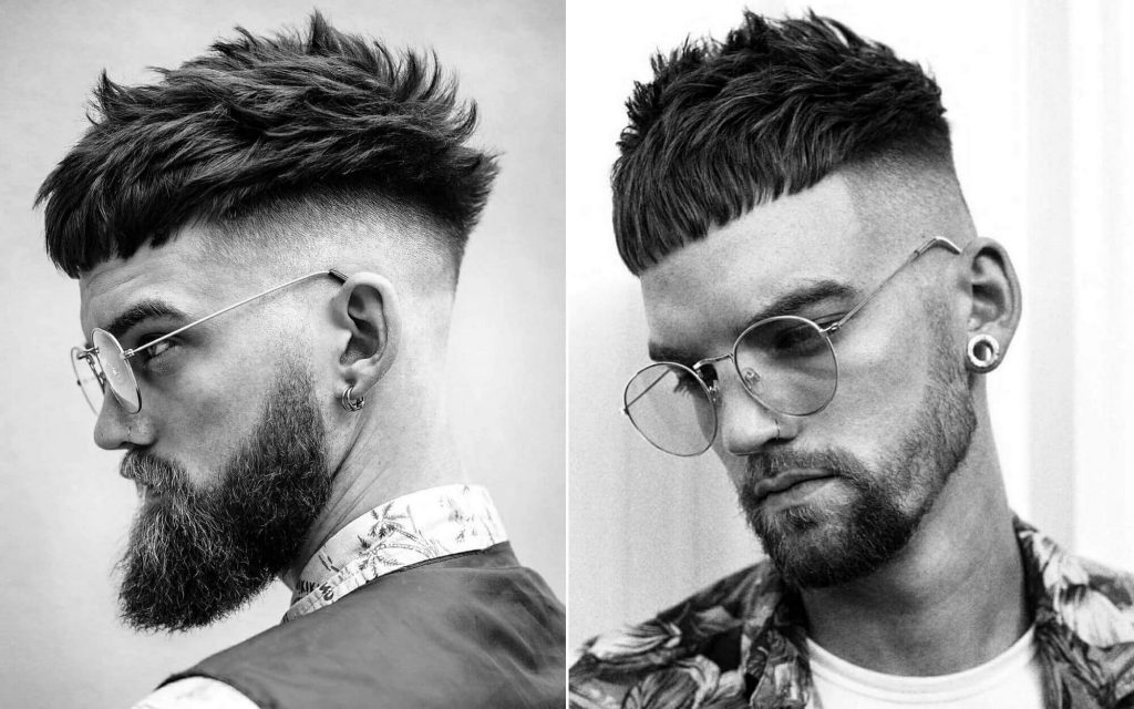 Messy Hair with Disconnected High Skin Fade