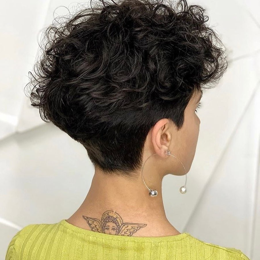Nice Haircut for Ladies with Short Black Hair