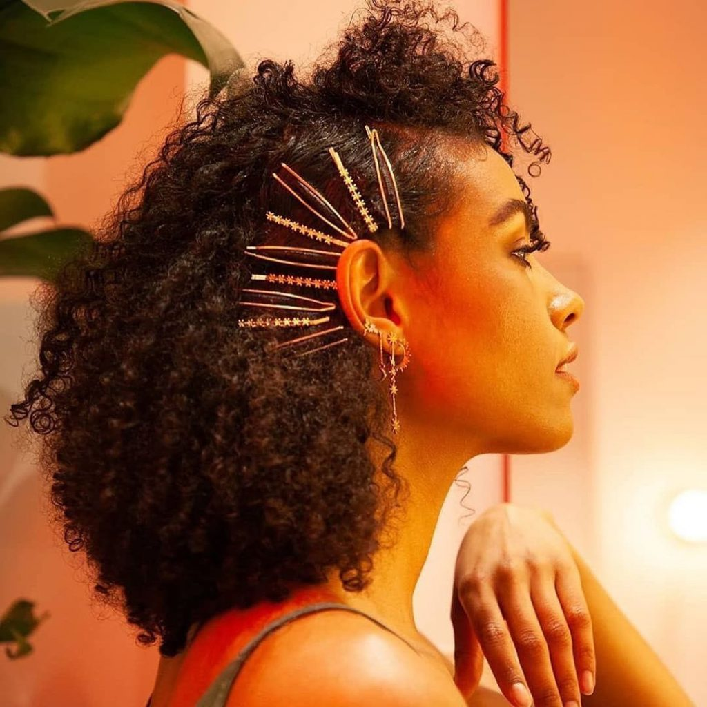 Nice Short Hairstyle for Natural Curly Hair