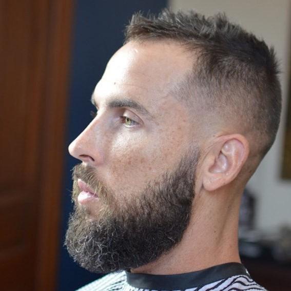Short Bearded Undercut Hairstyle