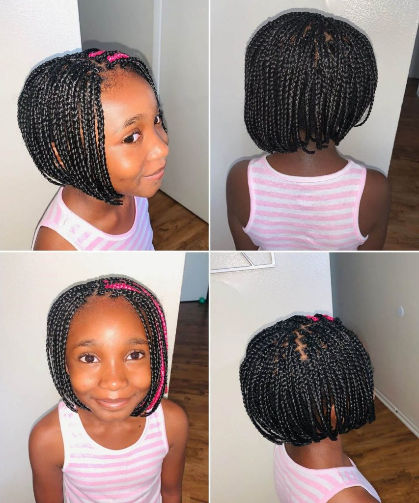 Short Braided Haircut for Girls with Natural Wavy Hair
