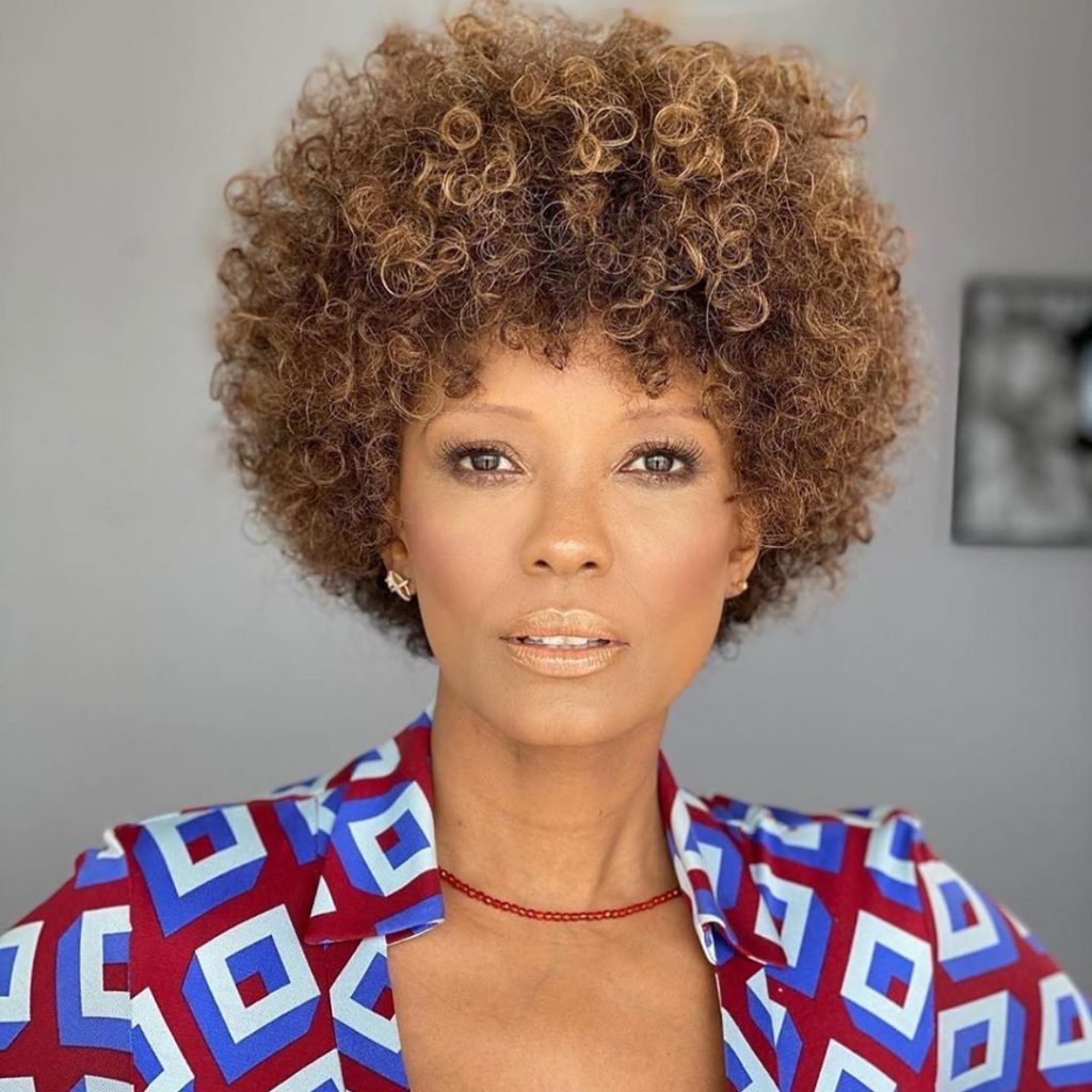 Short Curled Brown Hairstyle