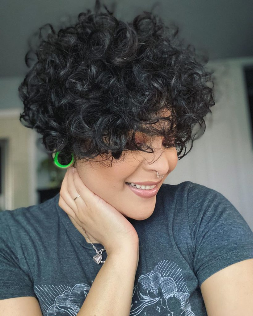 Short Curled Hair of the Black Color
