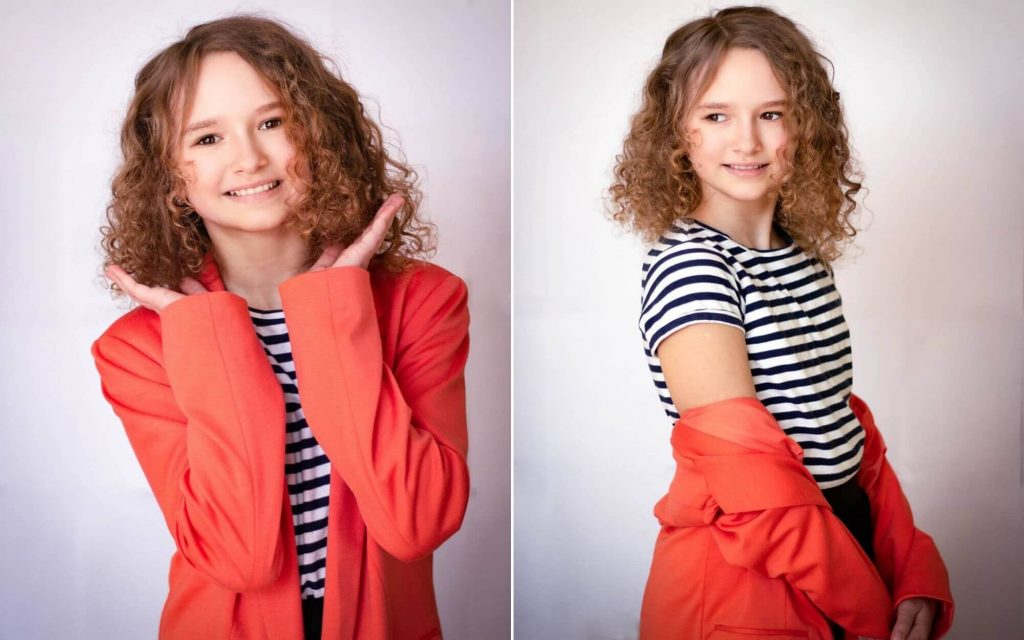Short Curly Brown Hairstyle for Young Girls