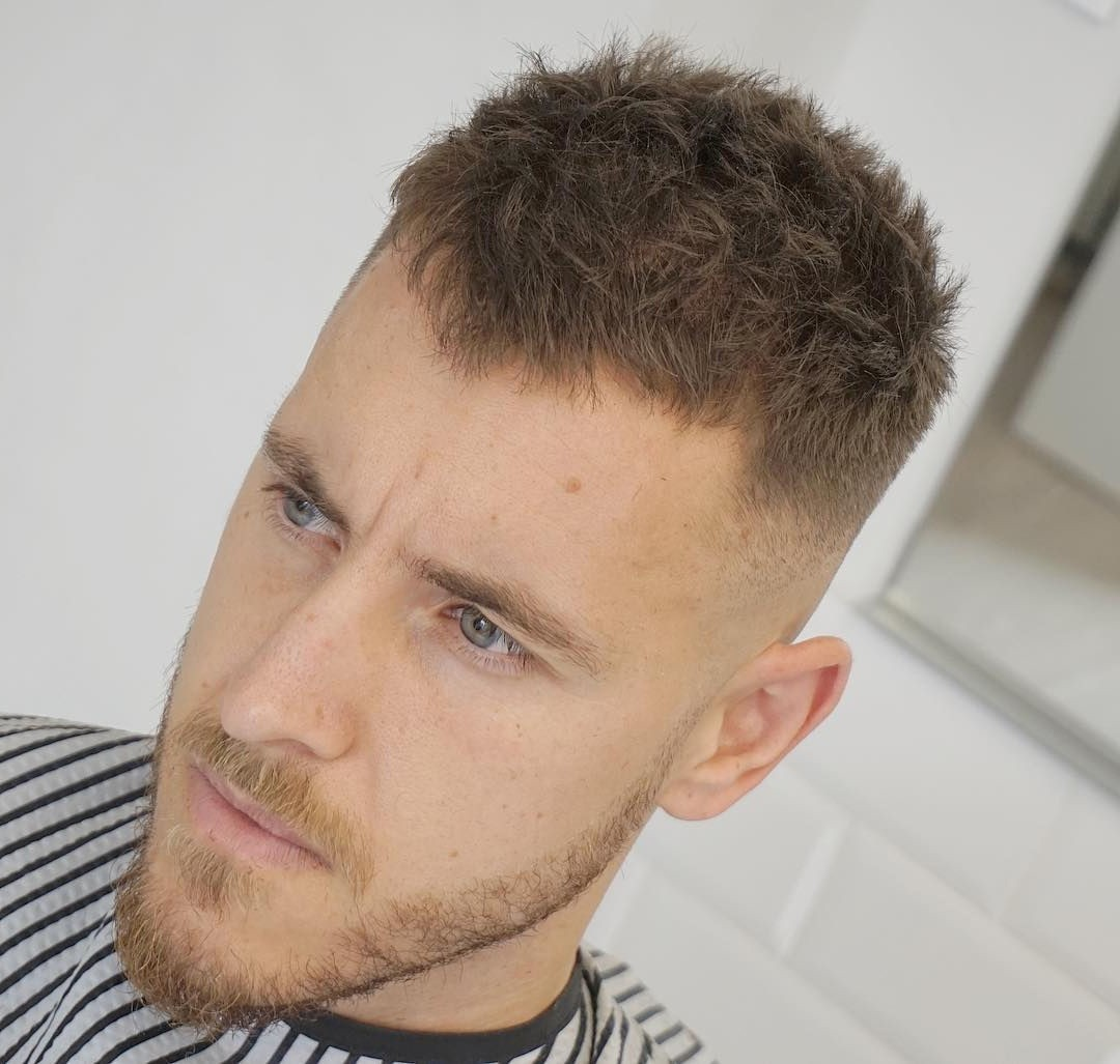 Short Haircut for Men Who Wear Beards