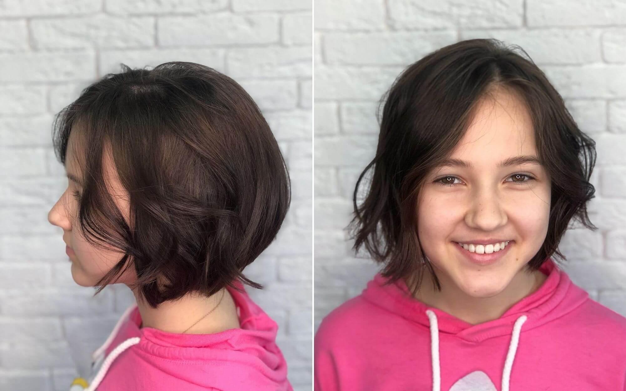 Short Haircut with Natural Wavy Hair