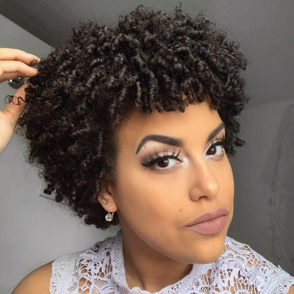 Short Hairstyle for Natural Curly Texture Hair