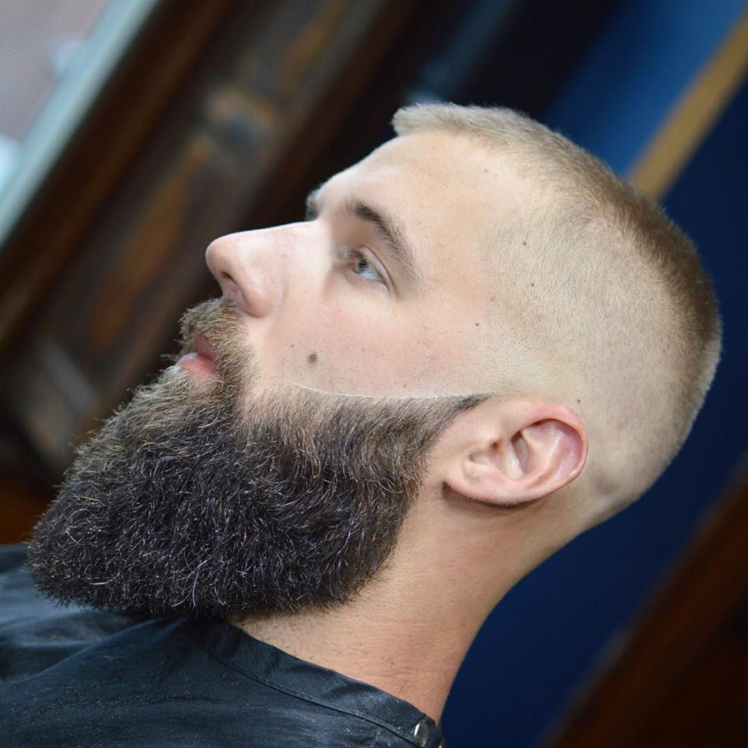 Short Haircut for Males with a Full Beard