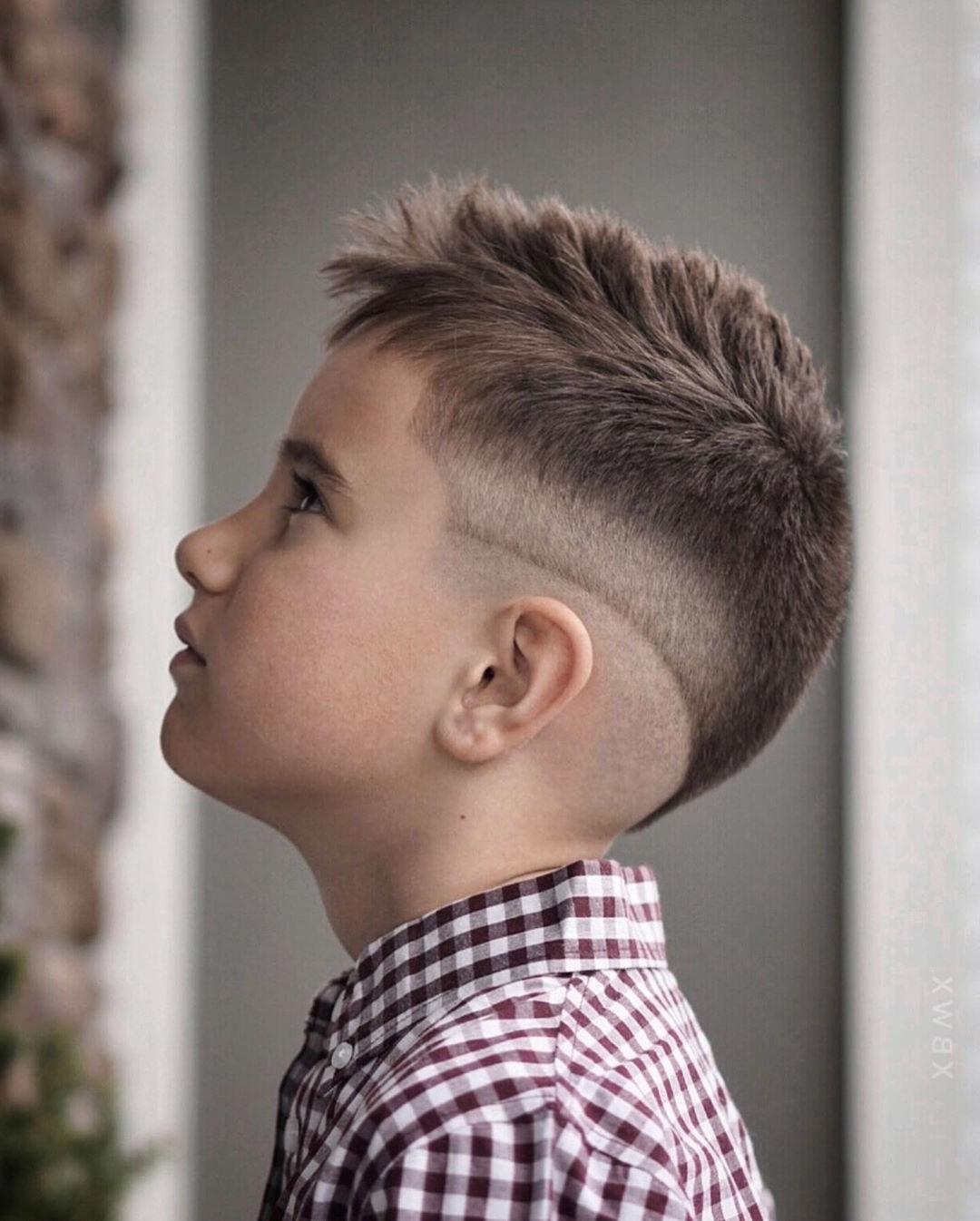 Short Mohawk Undercut for Boys