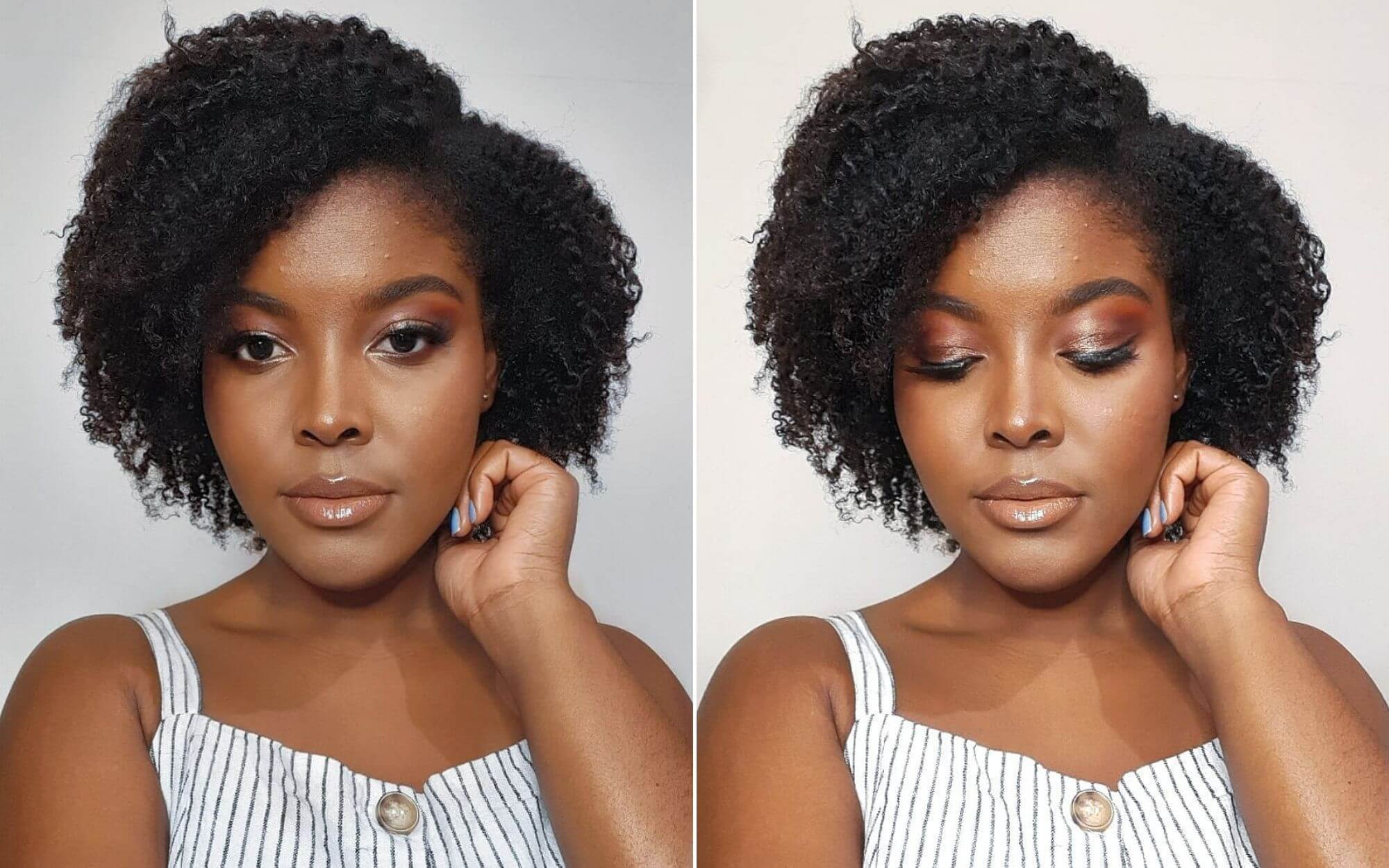 Short Natural Curly Haircut for Stylish Girls