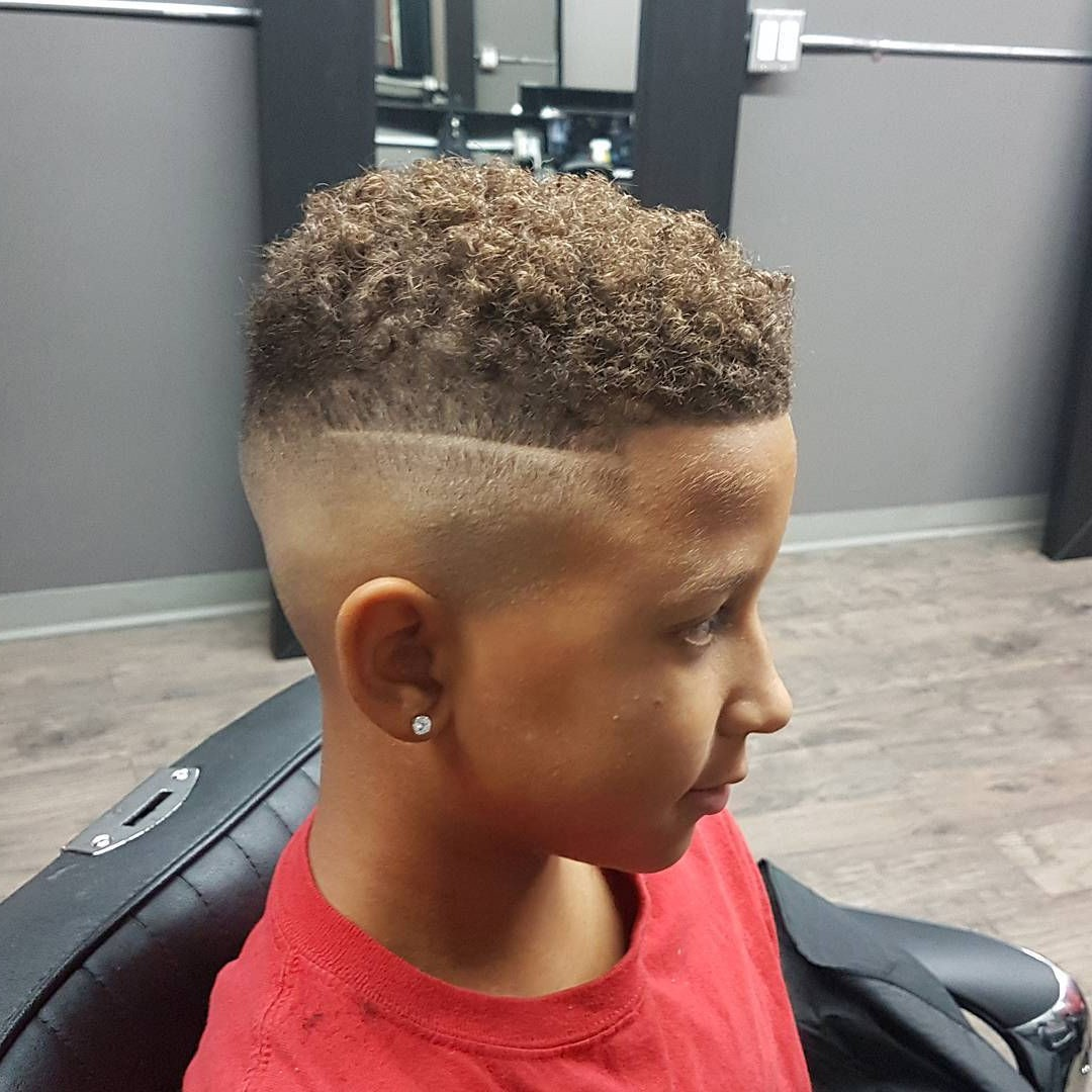 Short Undercut for Curly Young Boys