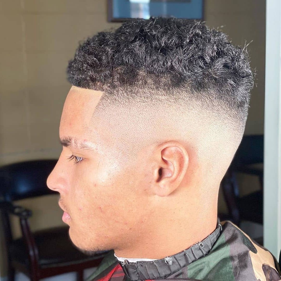 Short Undercut for Men with Natural Wavy Hair Type