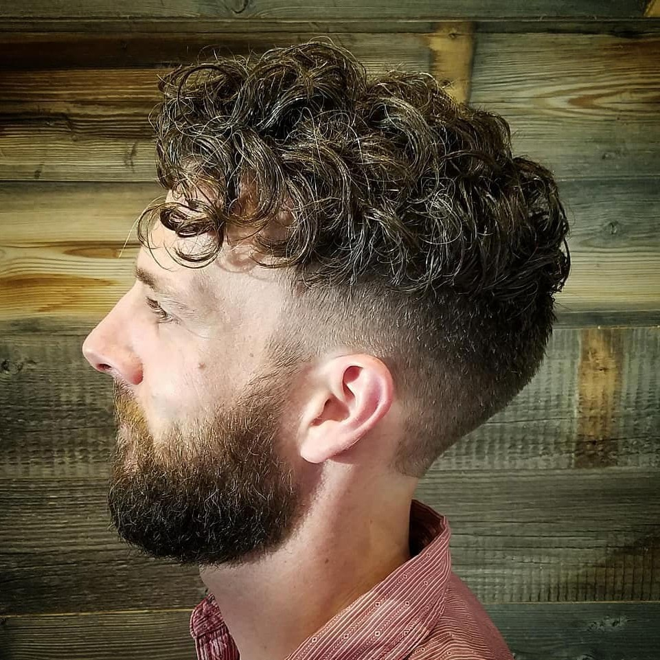 Short Undercut for Men with Wavy Hair