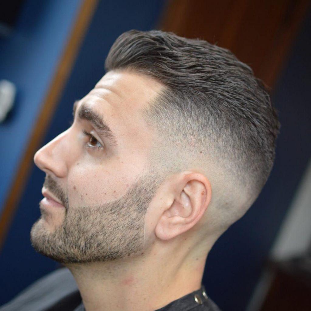 Short Undercut in the Bearded Male Style