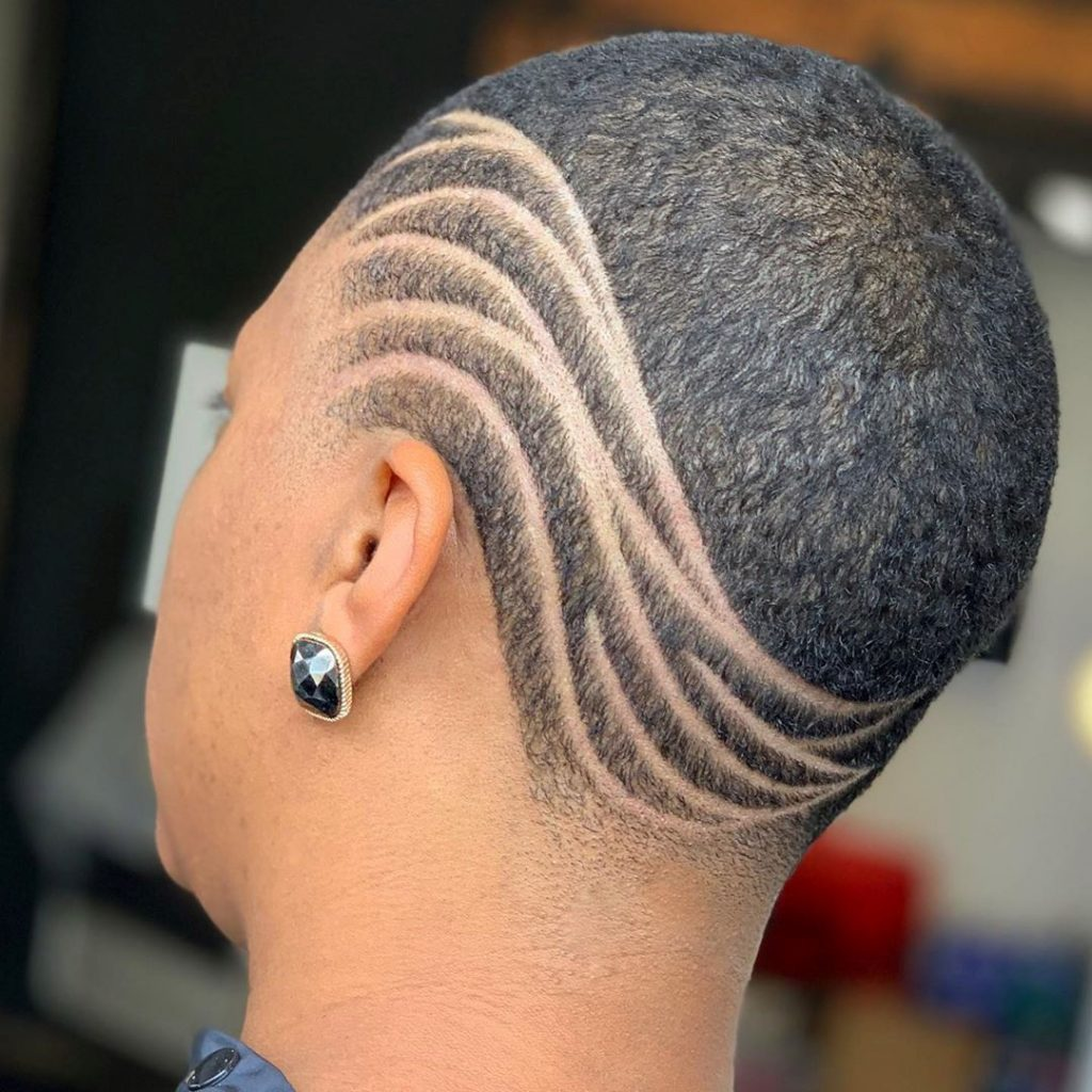 Short Undercut in the Popular Design with Lines