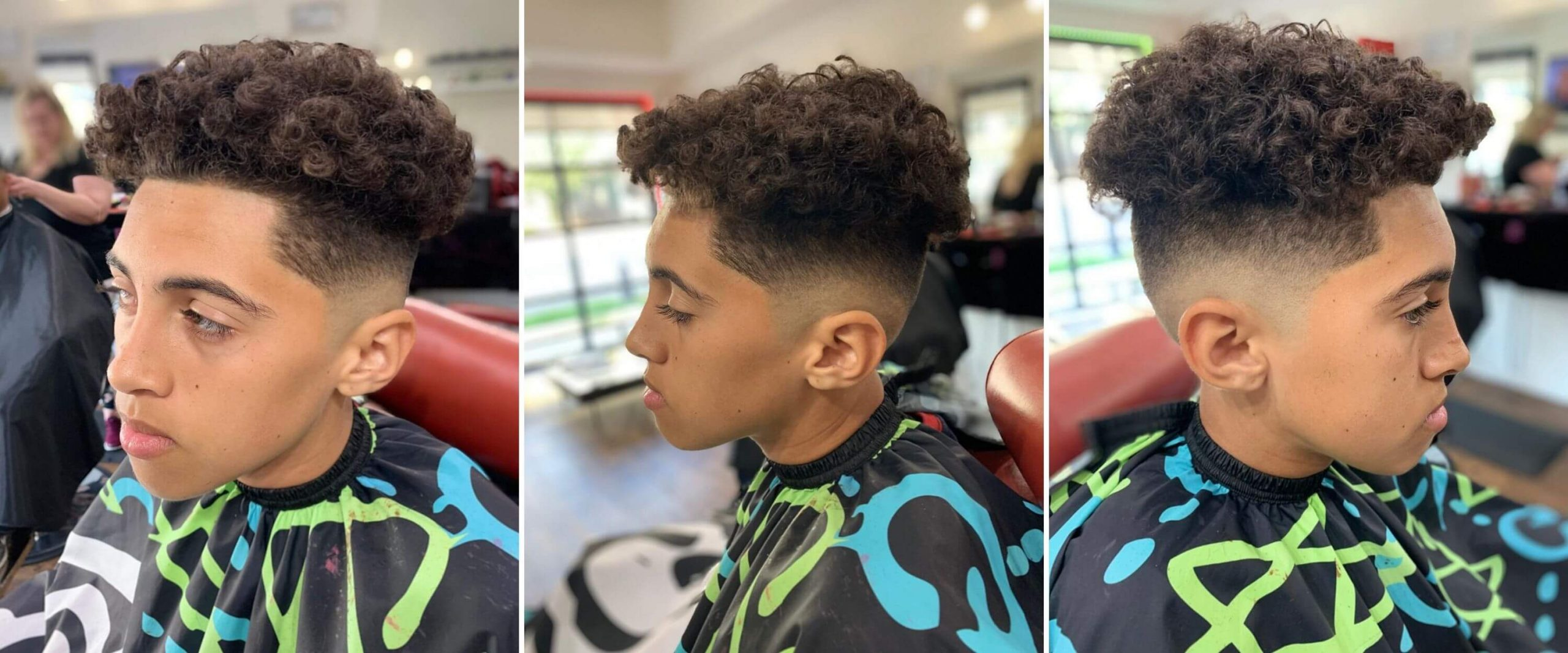 Short Undercut with Curly Cuts