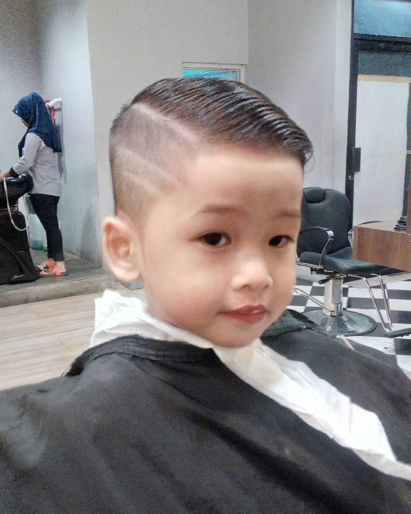 Short Undercut with Lines for Kids