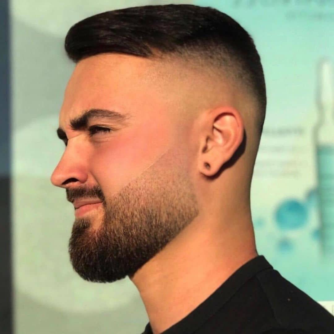 Short Undercut with a Beard for Stylish Men