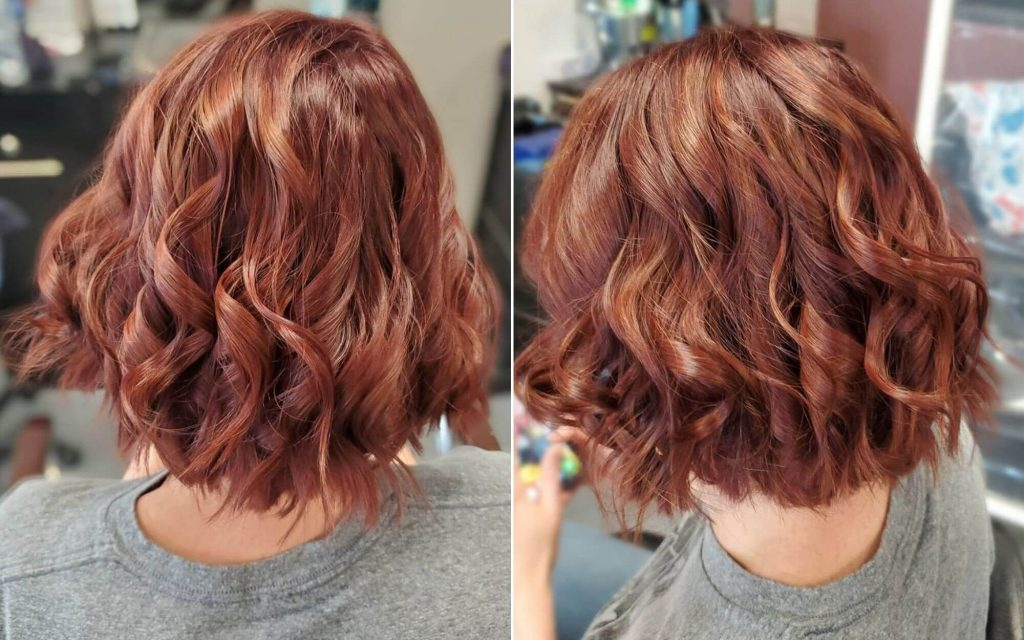 Short Wavy Hairstyle for Ombre Brown Hair