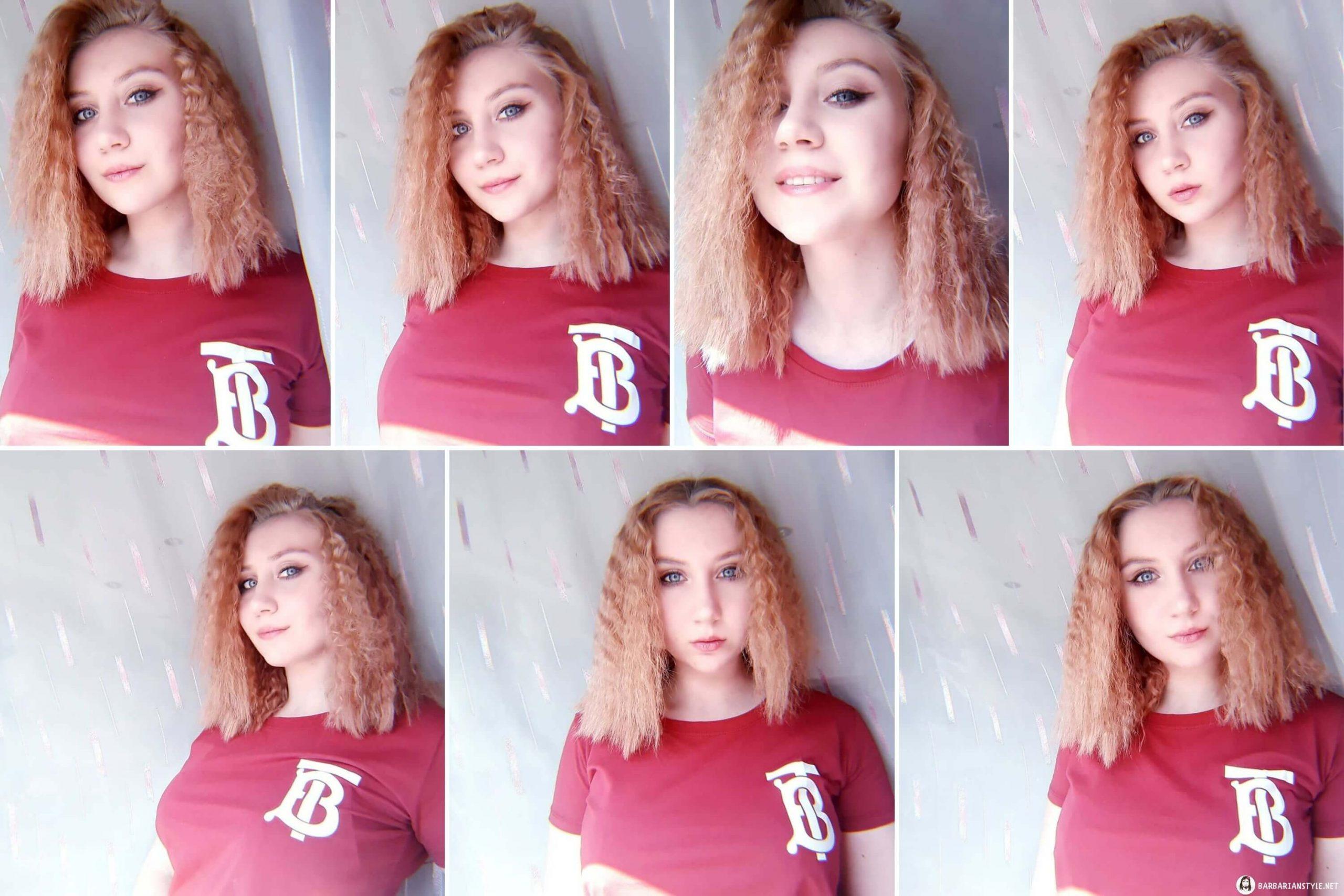 Shoulder-Length Curled Hair of Light Brown Color