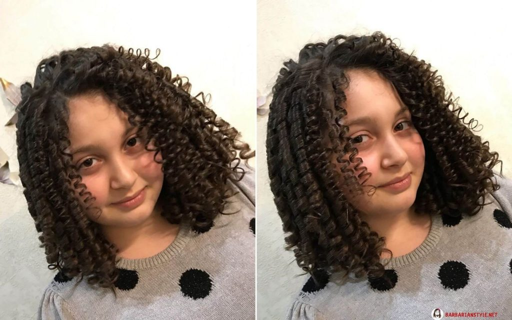 Shoulder-Length Curled Hairstyle