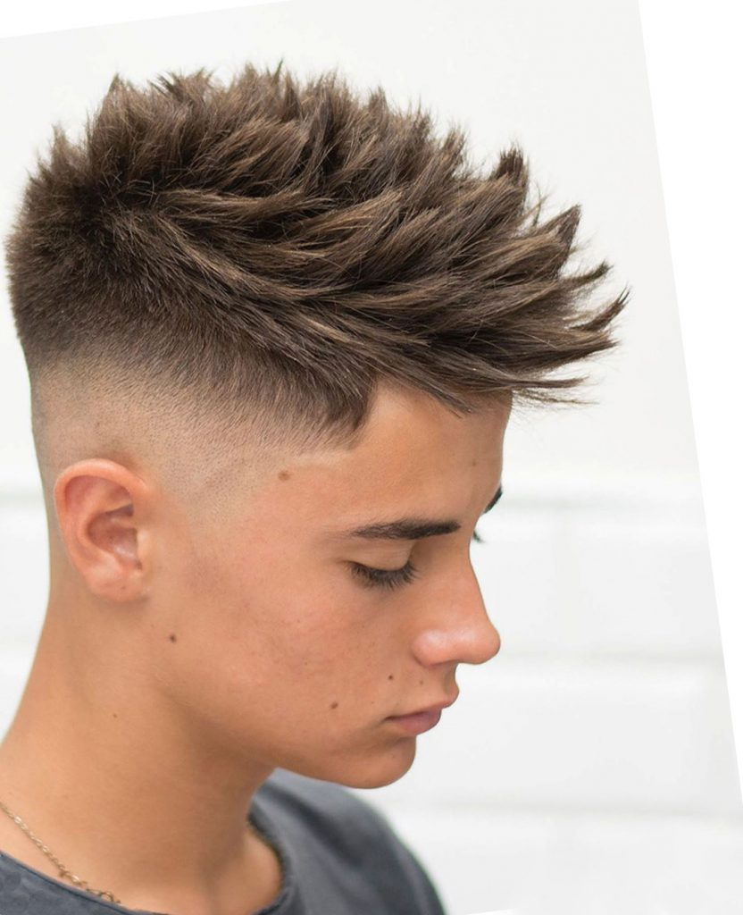 Skin Fade Undercut with Spikes for Boys