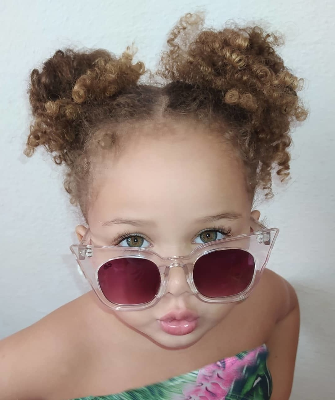 Space Buns for Short Curly Hair Type