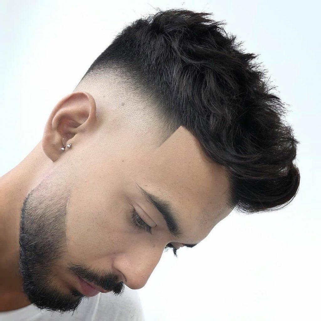 Undercut with Wavy Hair and Full Beard