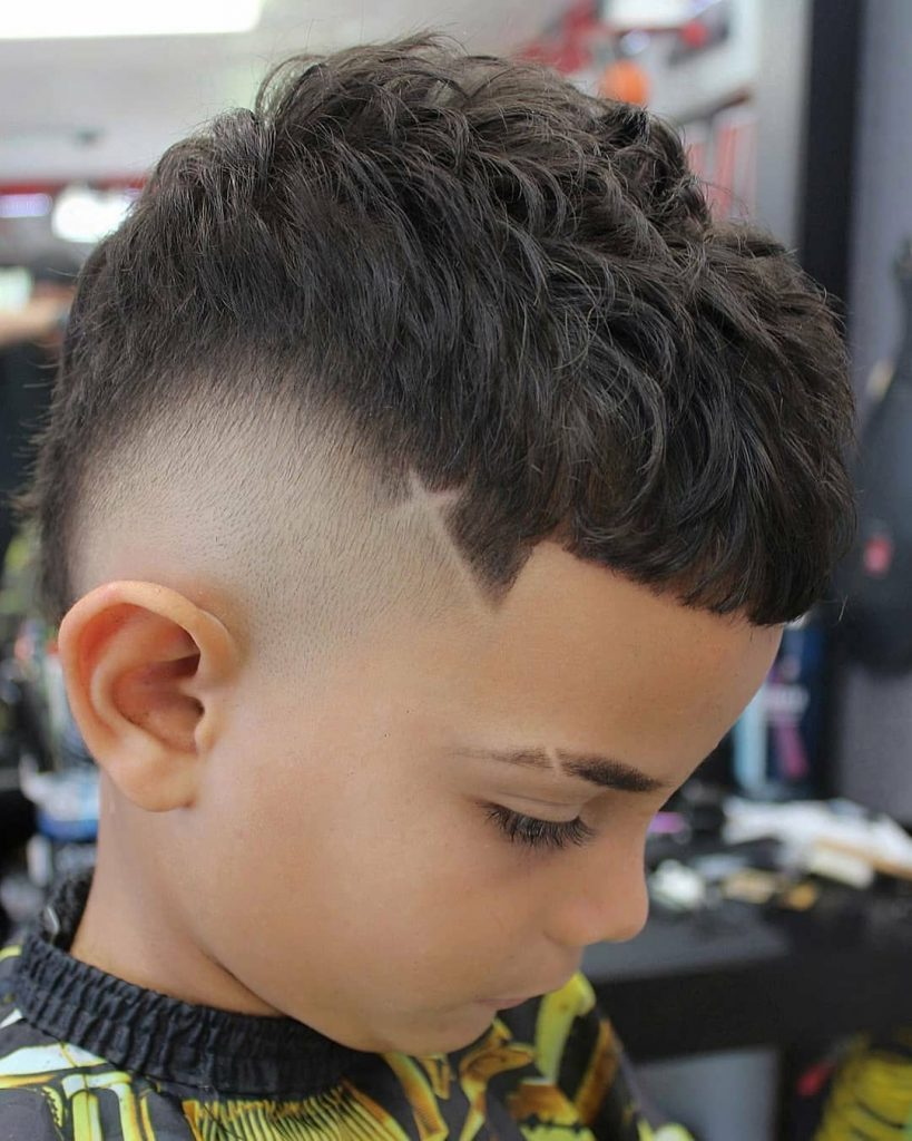 Wavy Top and Fade Hairstyle for Boys