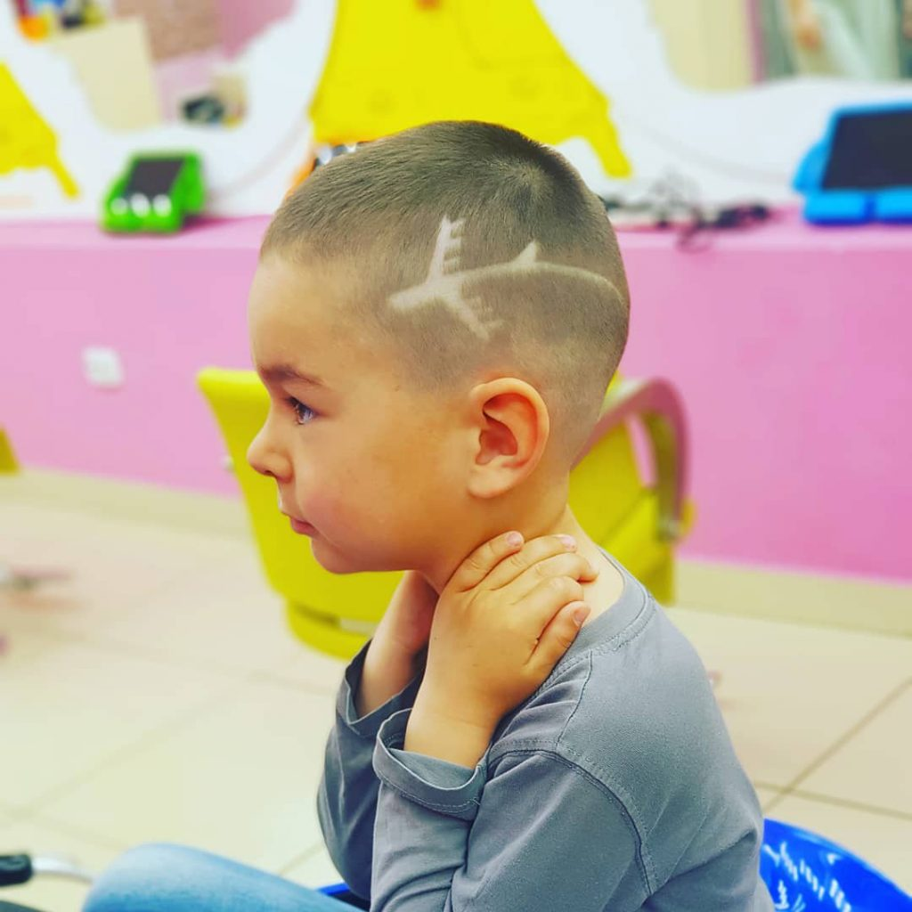 Boys' Haircut with Modern Plane
