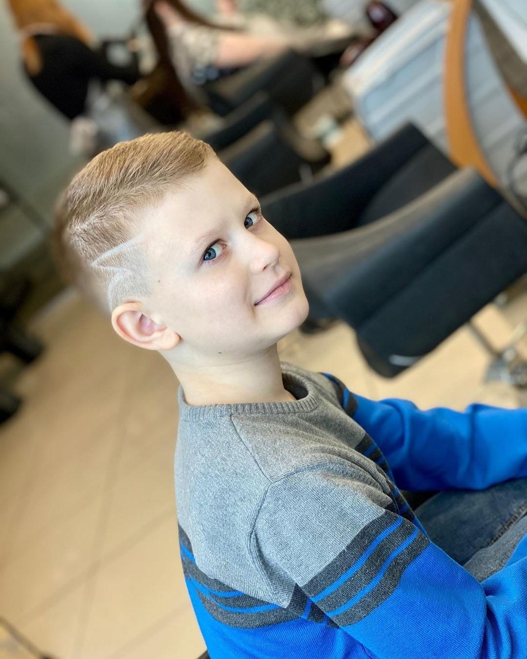 Boys Short Fade Undercut Haircut