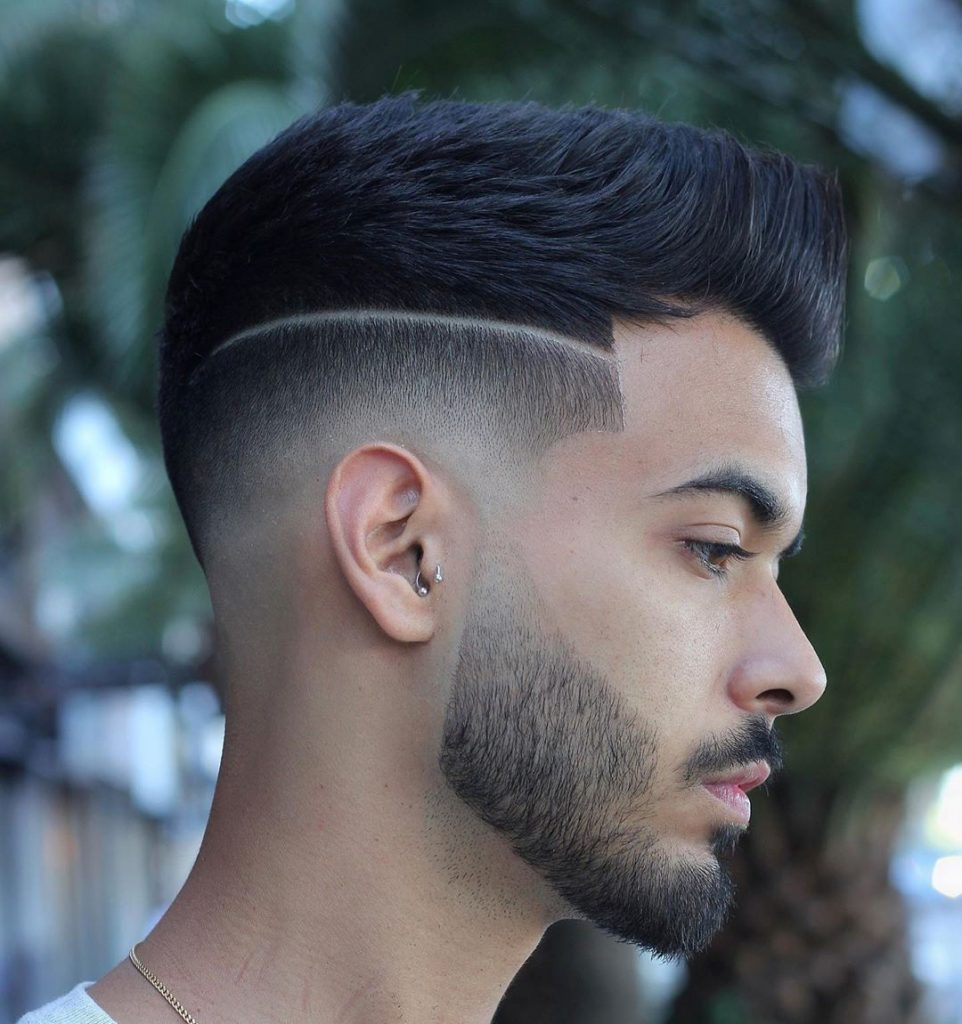Brushed up Disconnected Undercut Haircut