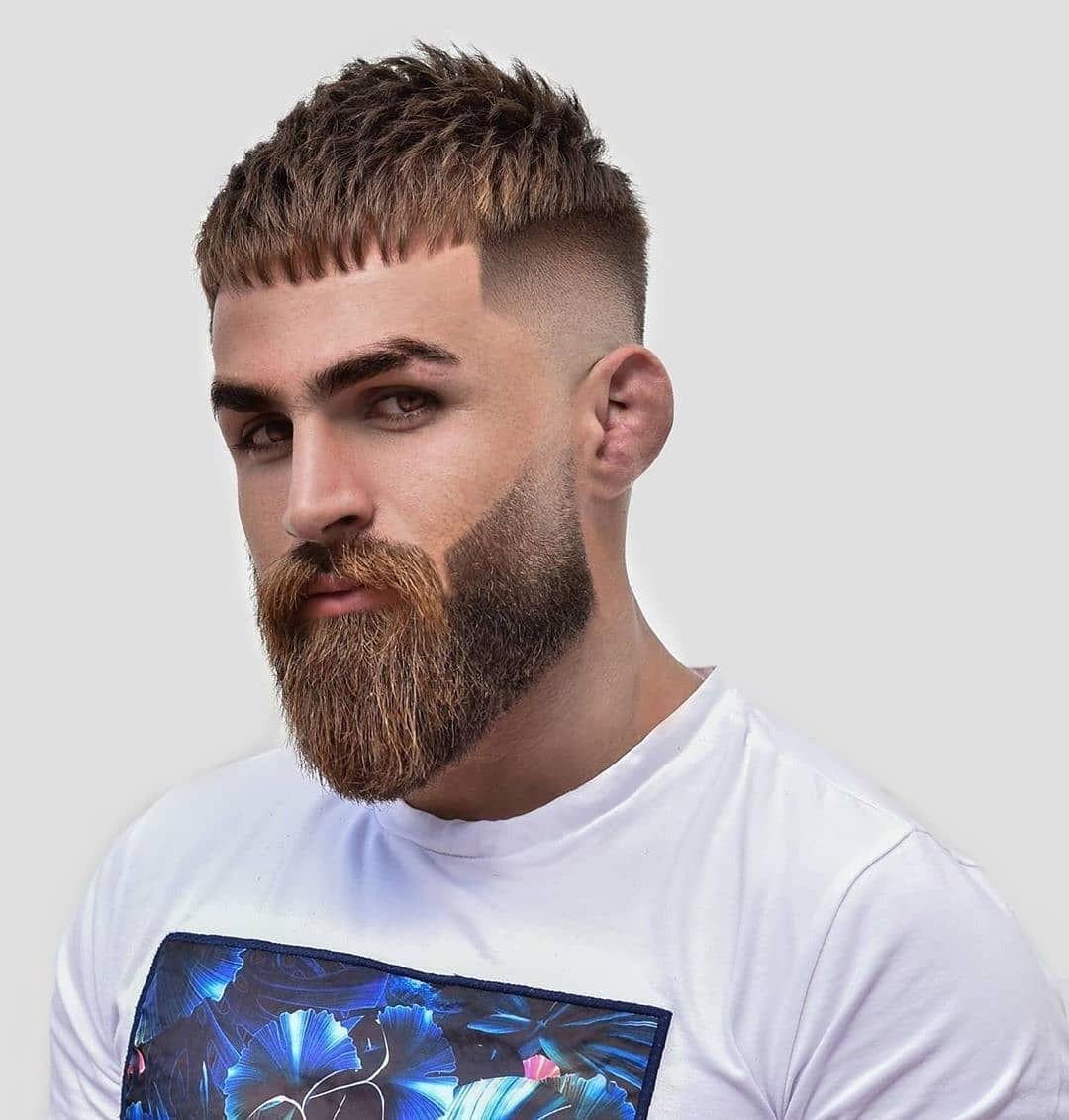 Caesar Undercut Haircut with Full Beard