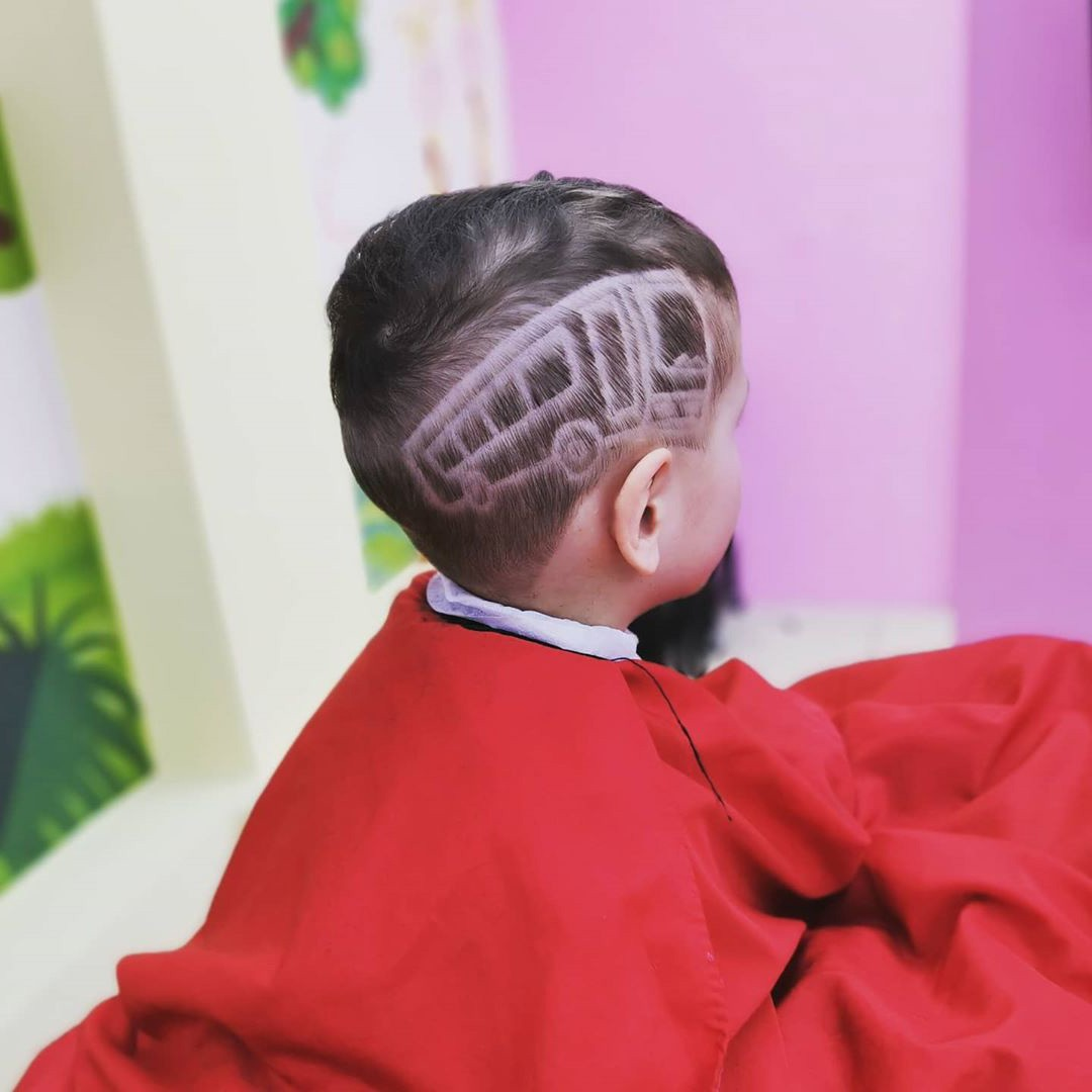 Cool Bus Hair Style for Kids