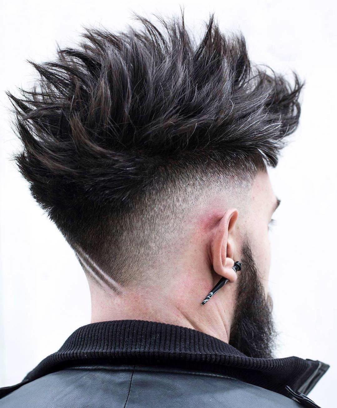 Cool Long Spiky Undercut Design for Men