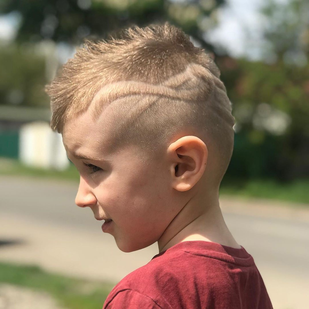 Cool Messy Undercut Cut for Kids