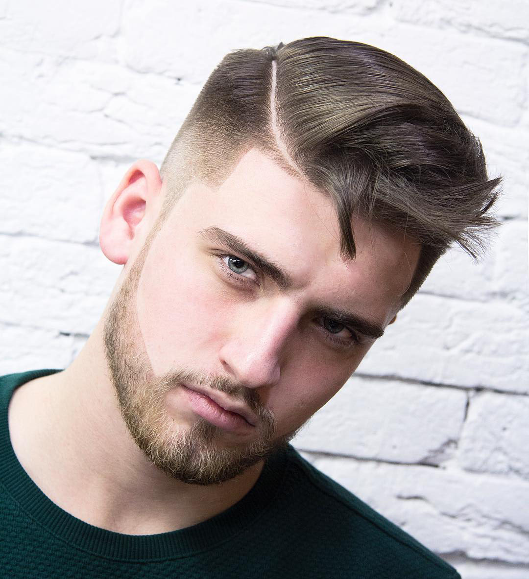 Cool Zig-Zag Hairstyle for Men
