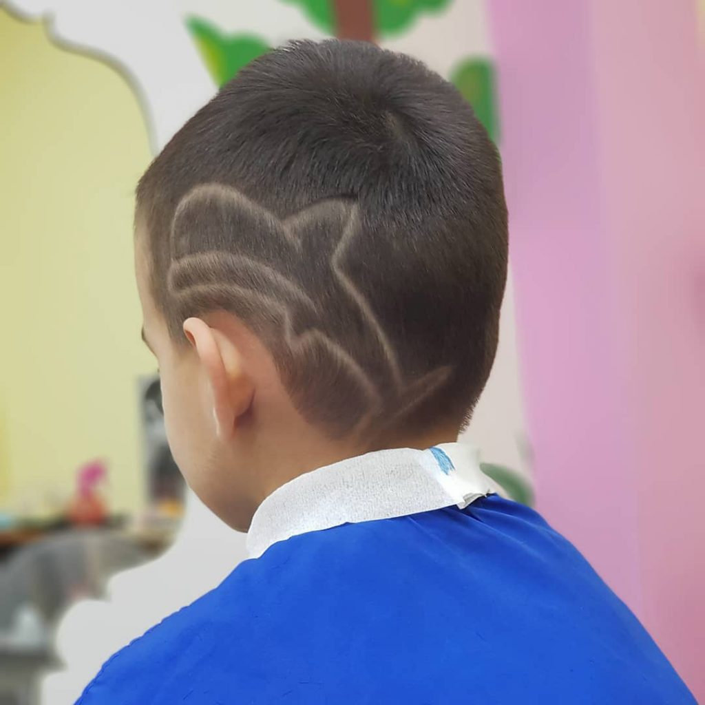 Dolphin Design for Short Hair Kids