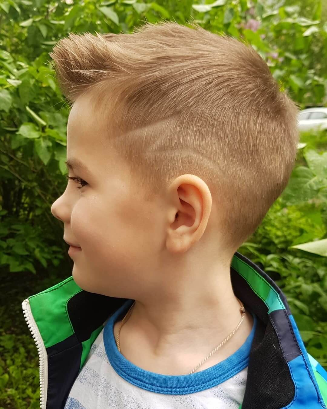 Faux Hawk Hair Style for Kids - side view