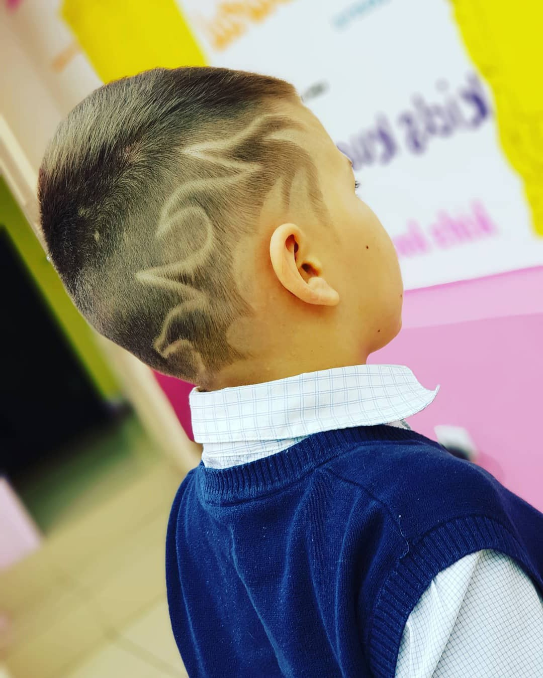 Flaming Hair Design for Kids