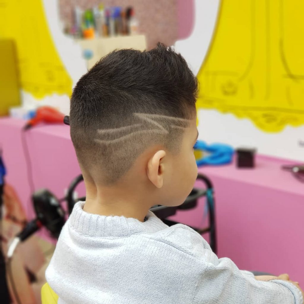 Fohawk Fade Undercut with Zorro Design for Kids
