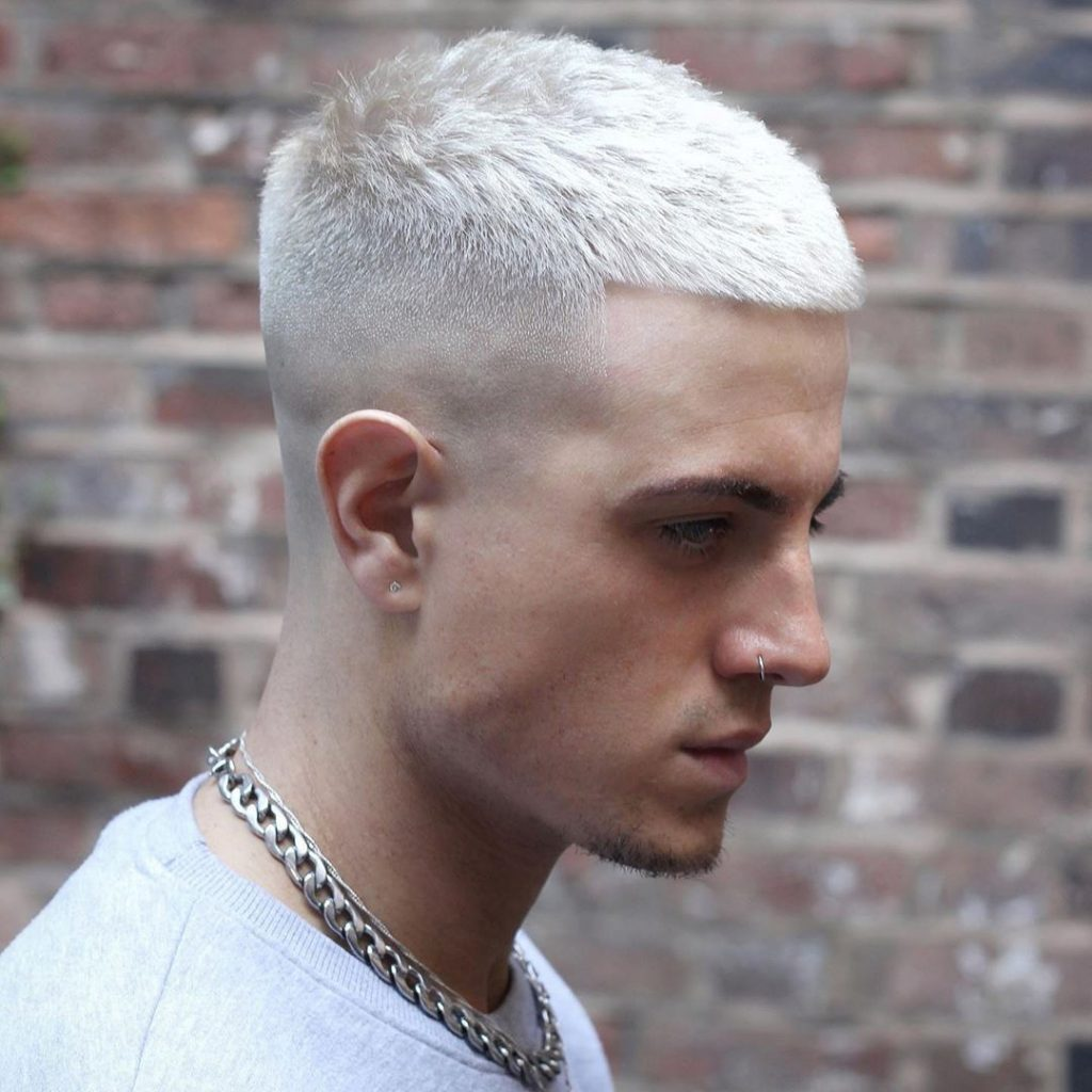 French Crop Haircut with Medium Fade