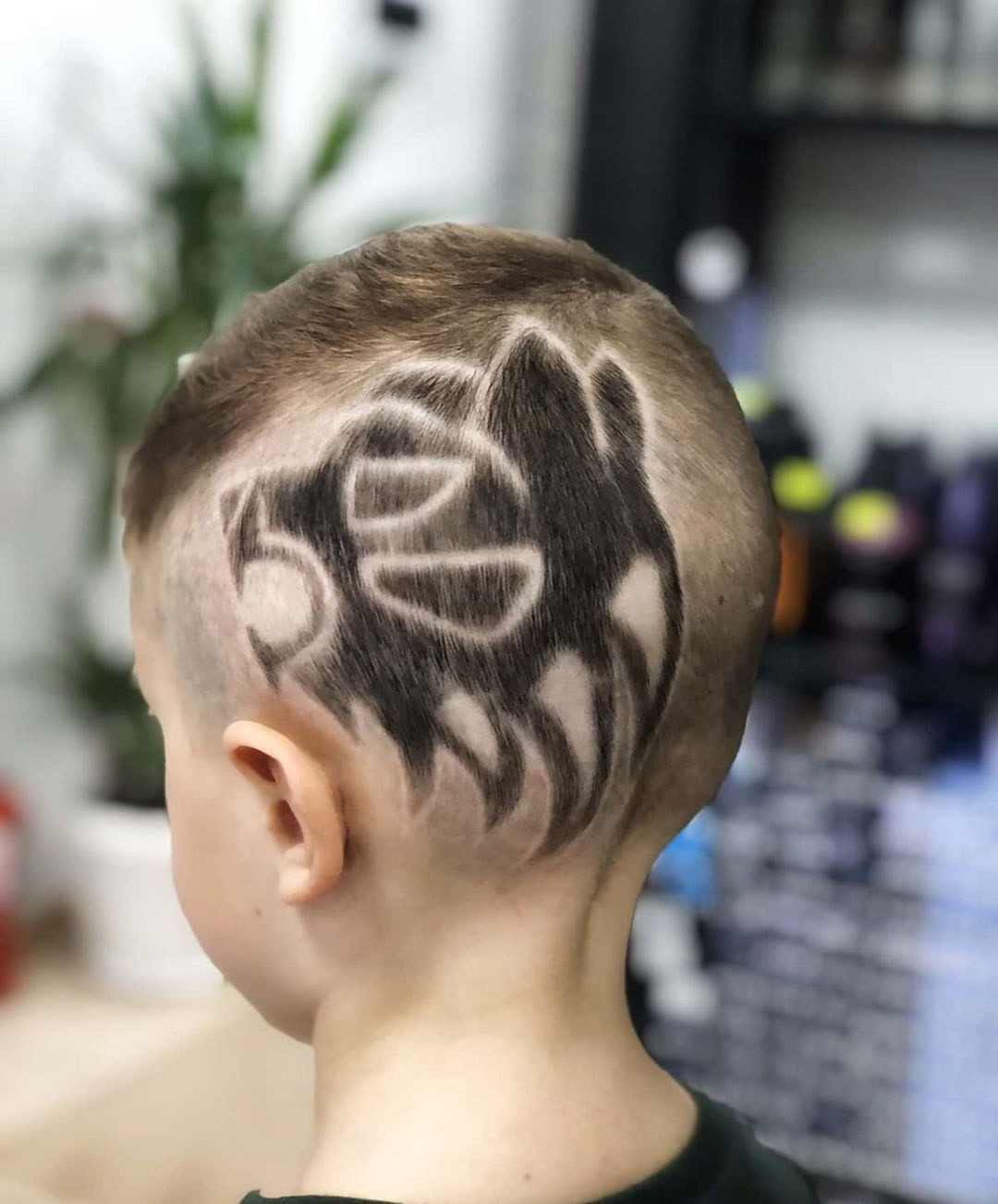 Hairstyle for Kids with Tiger Design