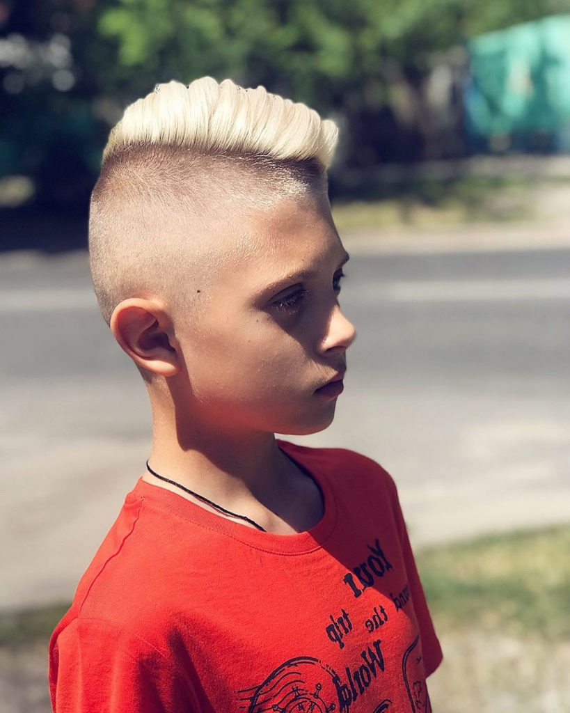 Half-Shaved Side Part Undercut for Boys