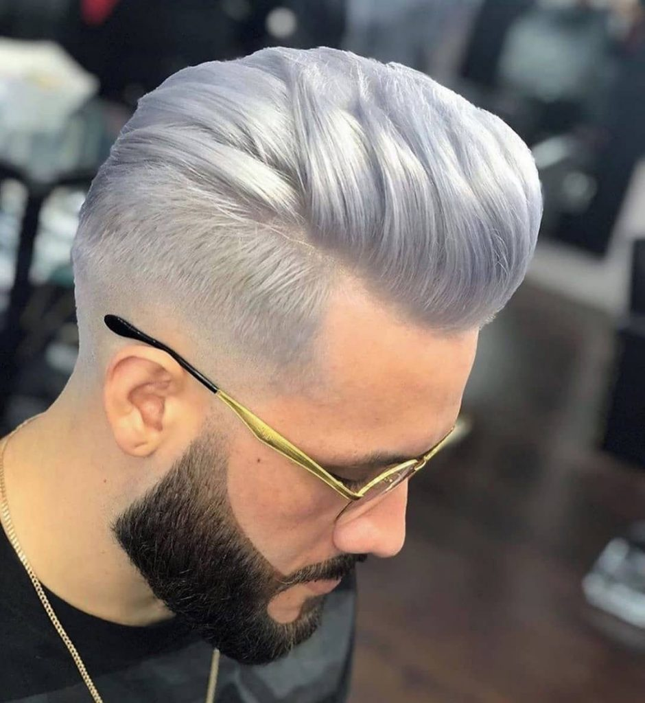 High Pomp Fade Undercut Haircut