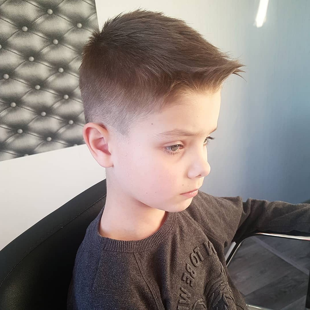 Kids Fohawk Cut with Low Fade