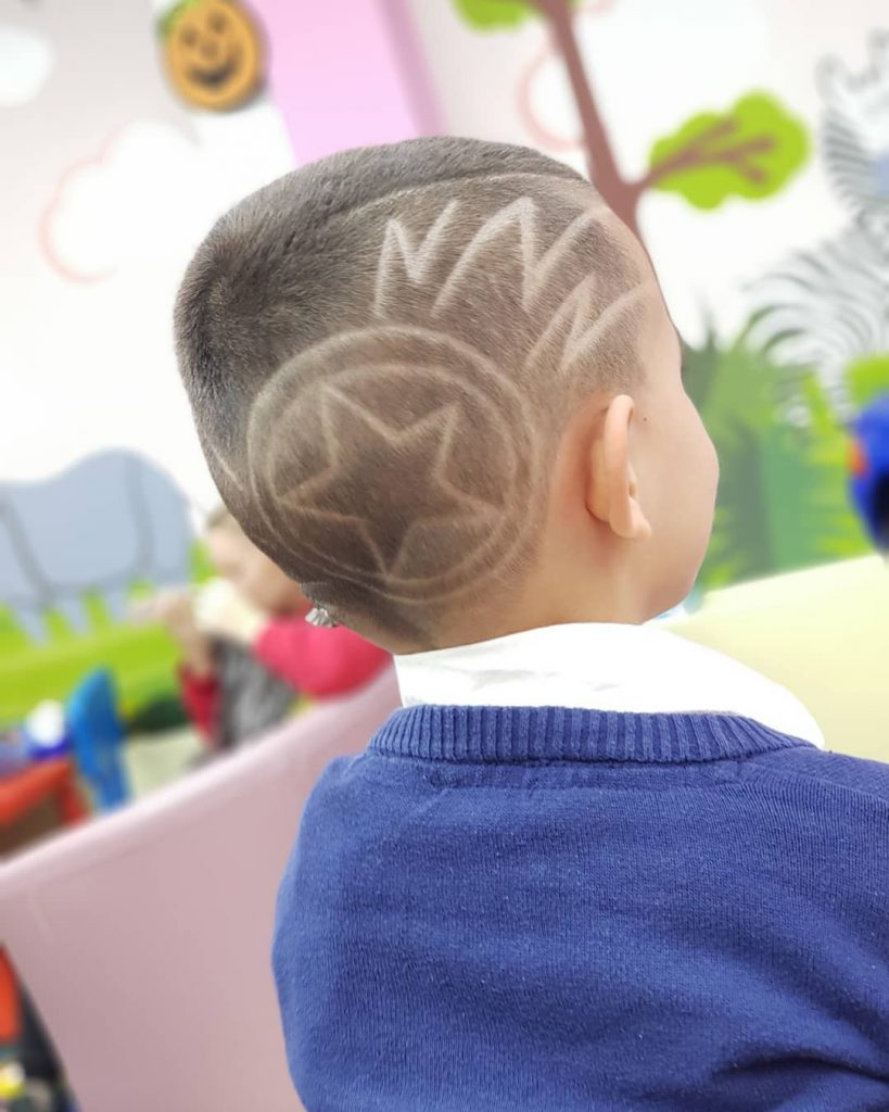 Lightning Bolts with Star Haircut for Boys