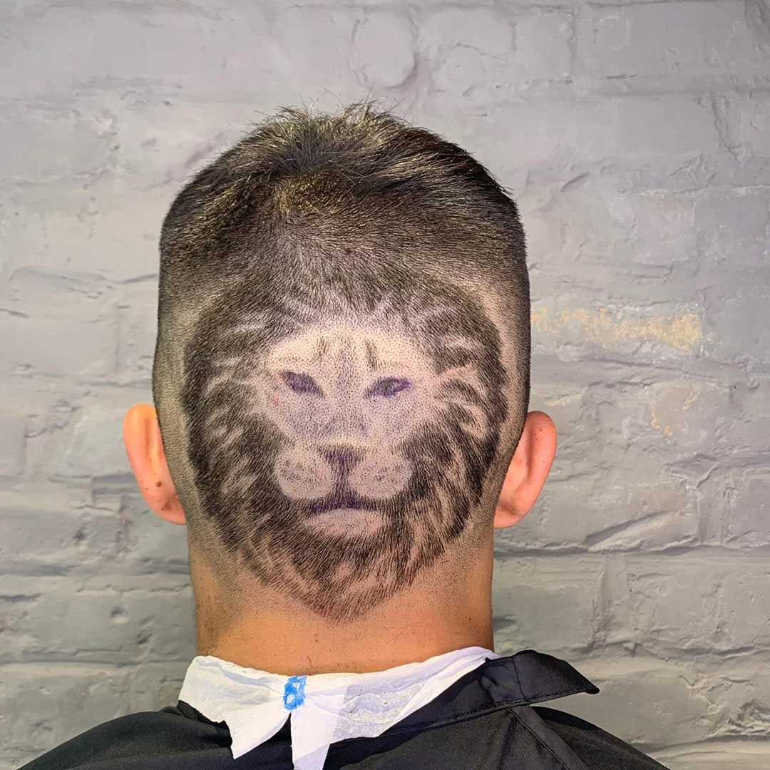 Lion Muzzle Cool Haircut for Guys
