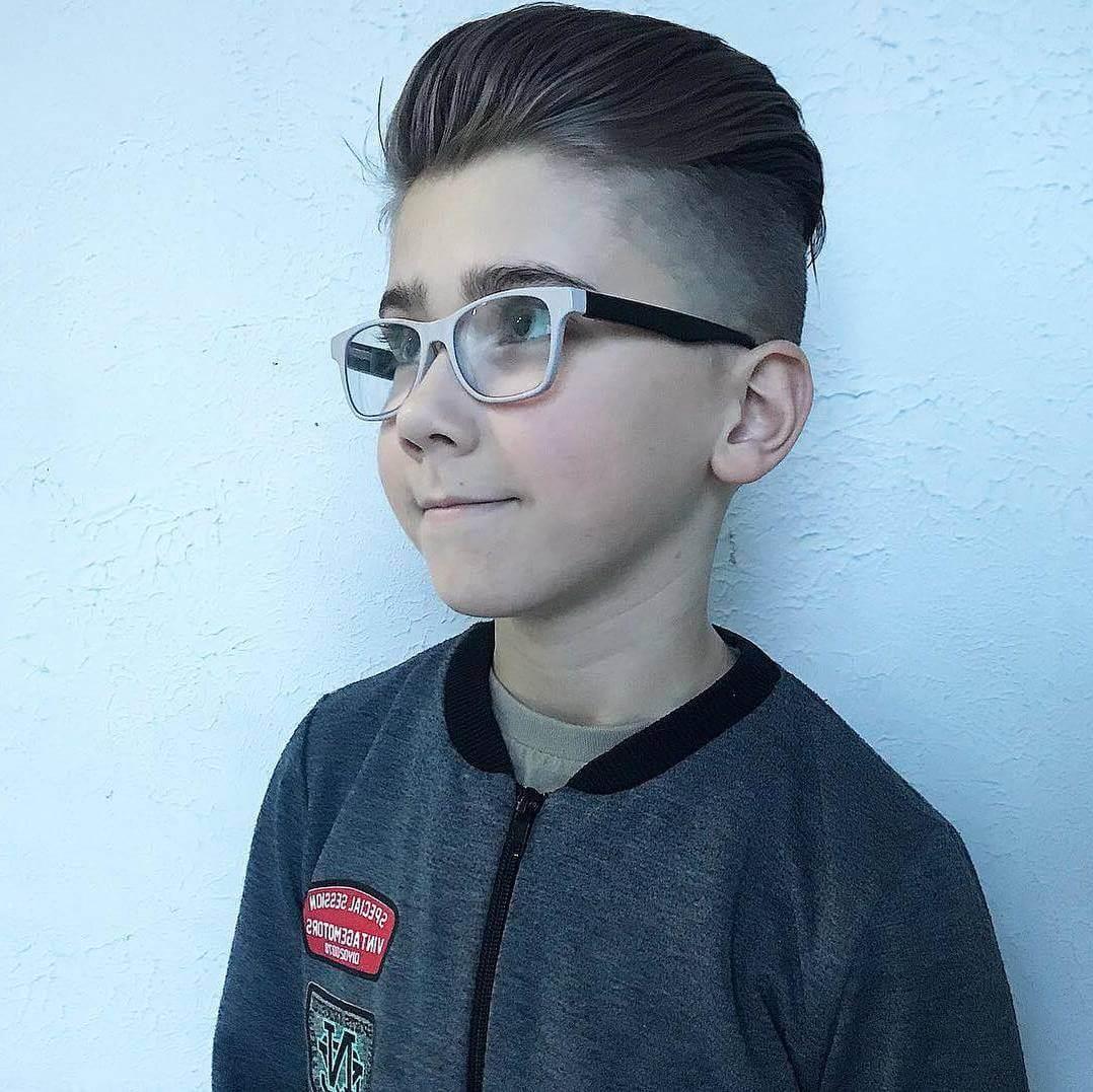 Little Boys' Slicked Back Undercut Haircut